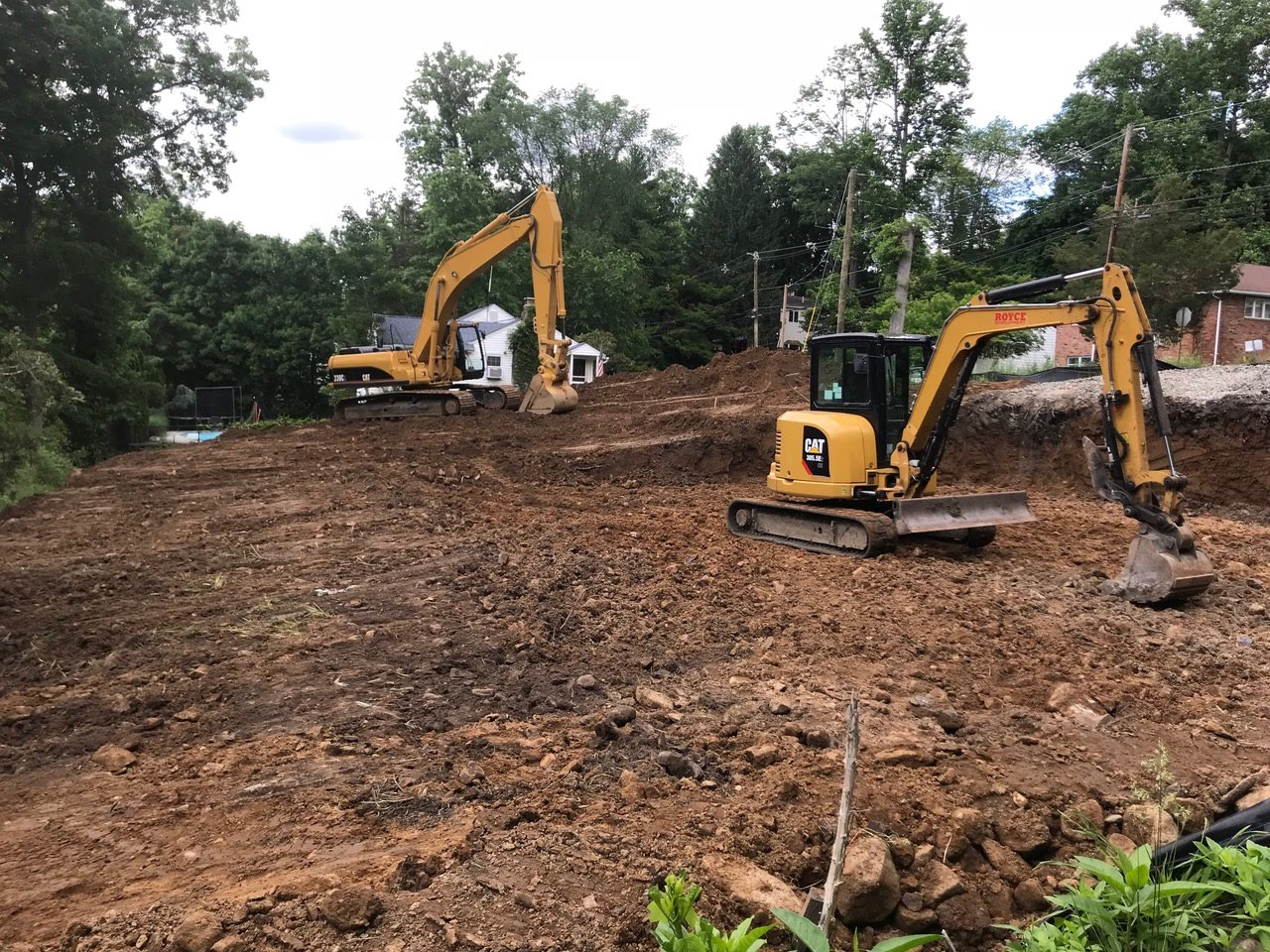 Site work for new townhouses Wayne NJ