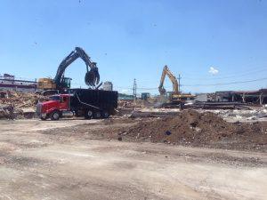 Strip mall demolition Union NJ