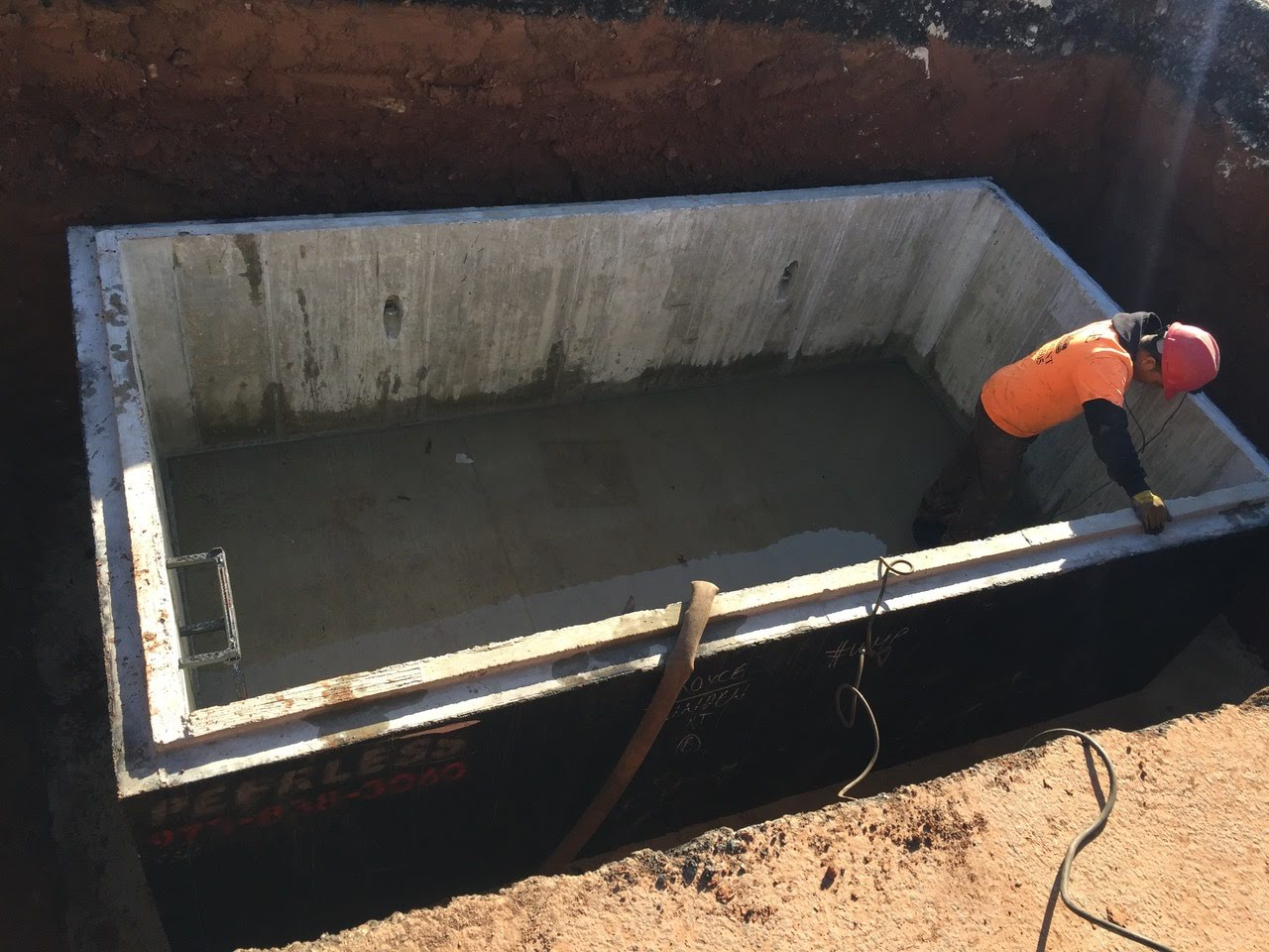 Installation water meter pit Linden NJ
